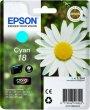 Tintapatron XP 30 102 202 205 Epson kék 3,3ml T180240