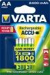 Tölthető elem AA ceruza 2x2400mAh előtöltött Varta Power Accu