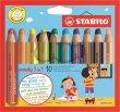 Színes ceruza kerek vastag Stabilo Woody 10 különböző szín