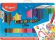 Színes ceruza készlet háromszögletű fém doboz Maped Color`Peps 48 különböző szín