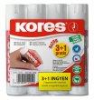 Ragasztóstift 20g 3+1 akciós kiszerelés Kores