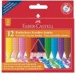 Zsírkréta háromszögletű Faber-Castell Jumbo Grip 12 különböző szín