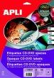 Etikett CD/DVD A4 teljes lefedettségű matt Apli
