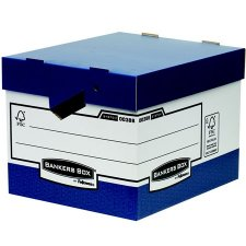 Archiváló konténer karton ergonomikus fogantyúkkal Fellowes #1