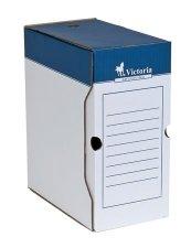 Archiváló doboz A4 150mm karton Victoria kék-fehér #1