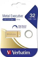 Pendrive 32GB USB 3.0 Verbatim Exclusive Metal arany #1