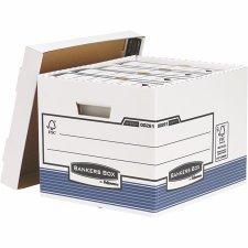 Archiváló konténer karton standard  Banker Box System by Fellowes kék #1