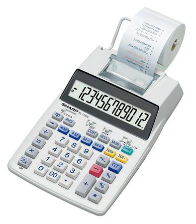Számológép szalagos 12 számjegy 2 színű nyomtató Sharp EL-1750V 24822d63b1