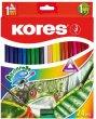 Akvarell ceruza készlet hegyezővel ecsettel Kores 24 szín