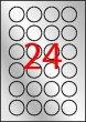 Etikett 40mm kör poliészter időjárásálló Apli ezüst 480 etikett/csomag