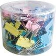 Bindercsipesz 19 mm színes 40db műanyag dobozban