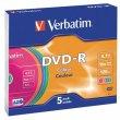 DVD-R lemez színes felület AZO 4,7GB 16x vékony tok Verbatim