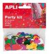 Konfetti metál 15mm szív Apli vegyes színek