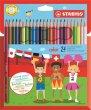 Színes ceruza készlet hatszögletű Stabilo Color 24 különböző szín
