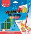 Színes ceruza klt háromszögletű kétvégű Maped Color`Peps Duo 48 különböző szín