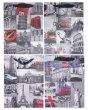 Dísztasak 26x12x32cm városok 4 különböző minta