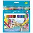 Színes ceruza készlet háromszögletű Connect 24 különböző szín