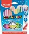 Filctoll készlet 1-3,6mm kimosható Maped ColorPeps 12 szín