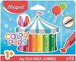 Zsírkréta Maped Color`Peps MAXI Wax 12 különböző szín
