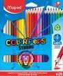 Színes ceruza készlet háromszögletű Maped Color`Peps Strong 24 különböző szín