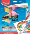 Színes ceruza készlet háromszögletű radírozható Maped Color`Peps Oops 24 különböző szín