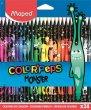 Színes ceruza készlet háromszögletű Maped Color`Peps Monster 24 különböző szín