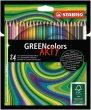 Színes ceruza készlet hatszögletű Stabilo GreenColors ARTY 24 különböző szín