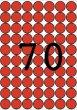 Etikett 19mm kör színes A5 ív Apli piros 560 etikett/csomag
