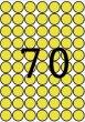 Etikett 19mm kör színes A5 ív Apli sárga 560 etikett/csomag