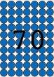 Etikett 19mm kör színes A5 ív Apli kék 560 etikett/csomag