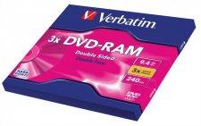 DVD-RAM kétoldalas Type I 9,4GB 3x Verbatim #1