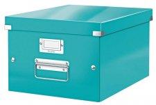 Irattároló doboz A4 lakkfényű Leitz Click&Store jégkék #1