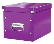 Tároló doboz lakkfényű M méret Leitz Click&Store lila #1