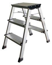 Fellépő 3 lépcsőfokos alumínium Krause Treppo (126030) #1