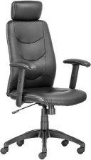 Főnöki szék műbőrborítás fekete lábkereszt Philadelphia fekete #1