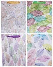 Dísztasak 26x10x32cm levelek 4 különböző minta #1