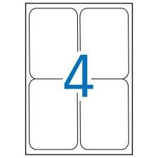 Etikett 99,1x139mm kerekített sarkú Apli 400 etikett/csomag #1
