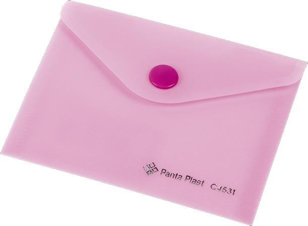 b7457427d477 Irattartó tasak A7 PP patentos Panta Plast pasztell rózsaszín
